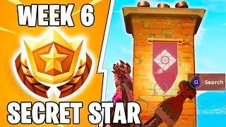 Secret season 7 Week 6 Fortnite Battle Star Banner location and loading screen