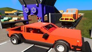 MASSIVE LEGO Train Wrecks #24 - Brick Rigs Gameplay - Lego Toy Destruction