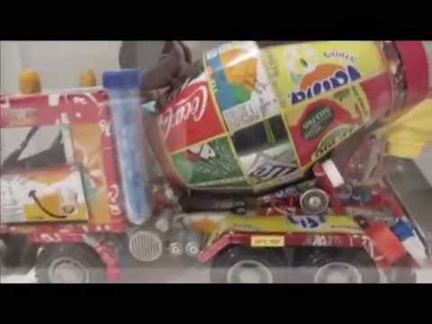 Concrete mixer truck  - Toy Cycle exhibition: toys in surprising combinations - The Old Jaffa Museum