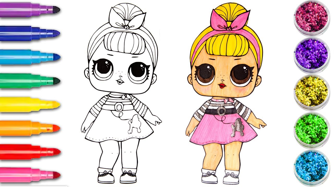 LOL Surprise OMG Coloring Glitter Sis Swing Poupées lol coloriage