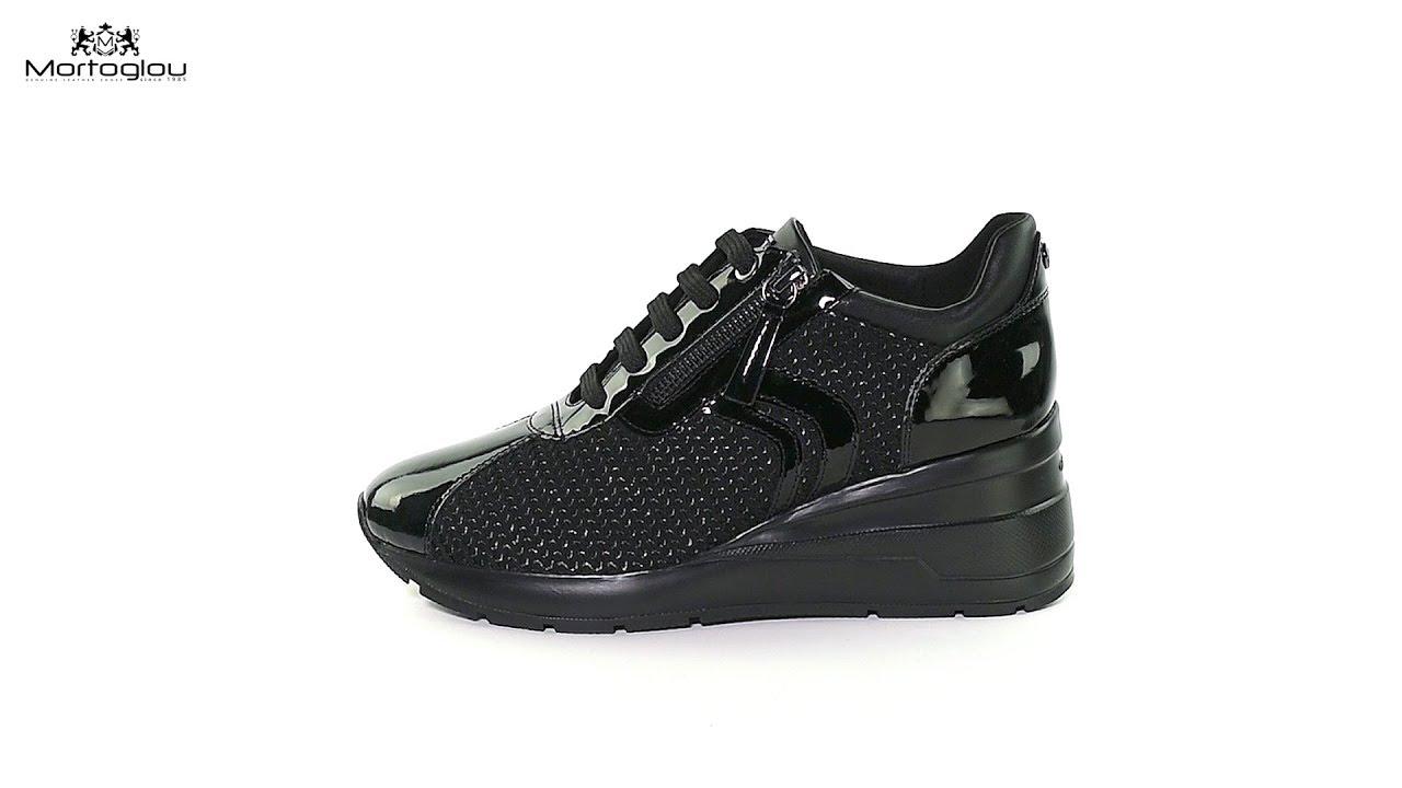 a8792b2e395 Γυναικεία Παπούτσια Casual Geox D848LA Black Patent - YouTube