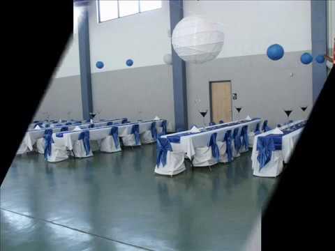 Decoracion de salon color azul royal para boda youtube for Decoracion petrole azul