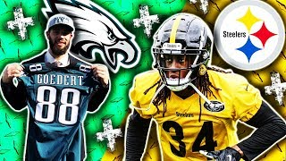2018 🁢 PIT Steelers @ PHI Eagles 🁢 Preseason Week 1 🁢 Dallas Goedert Terrell Edmunds
