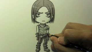 "Drawing Time Lapse: Chibi ""Goth"" Character"