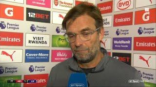 Jurgen Klopp seeks clarification on disallowed goal   Post-match interview   Arsenal v Liverpool