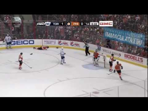 Chris Pronger's eye gets destroyed [HD]
