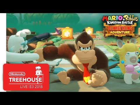 Mario + Rabbids Kingdom Battle: Donkey Kong Adventure Gameplay - Nintendo Treehouse: Live | E3 2018