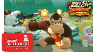 Mario + Rabbids Kingdom Battle: Donkey Kong Adventure Gameplay - Nintendo Treehouse: Live | E3 2018