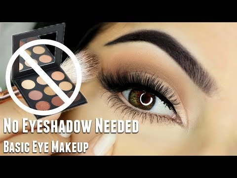 Beginners Eye Makeup Tutorial | WITHOUT using Eyeshadow | Basic Eye Makeup Look thumbnail