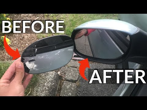 DIY EASY FIX HOW TO REPLACE A BROCKEN SIDE MIRROR GLAS *PEUGEOT 206*