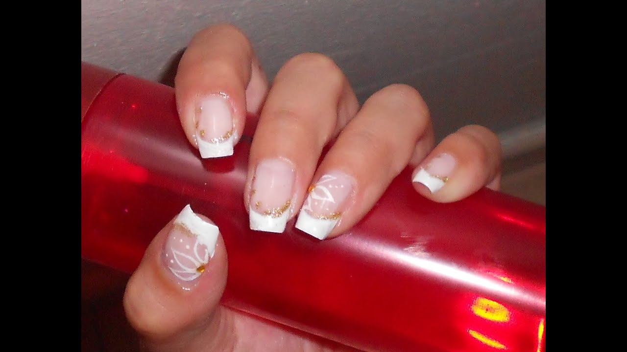 Favoloso Nail art da sposa fai da te con smalti semplice delicata ed  OD36