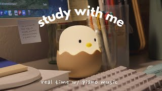study with me: late night edition with soft animal crossing piano tracks