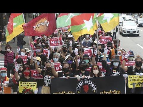 شاهد: ميانماريون مقيمون في تايوان يتظاهرون ضد الانقلاب العكسري في بلادهم…  - 21:58-2021 / 5 / 2