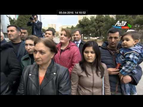 Ilham Aliyev yarali esgerlerimizle