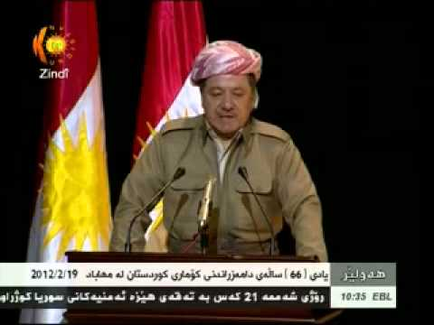 President Barzani at performance of anniversary of first Kurdish republic (Republic of Mahabad)