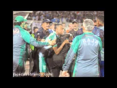 صور حصرية للإعتداء على فريق وجماهير الرجاء البيضاوي بالجزائر
