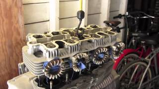 socomoto 1976 honda cb550 top end rebuild gaskets rings o rings and valve lapping part1