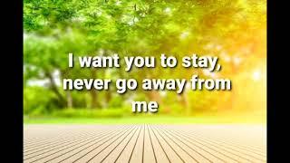 STAY with Lyrics