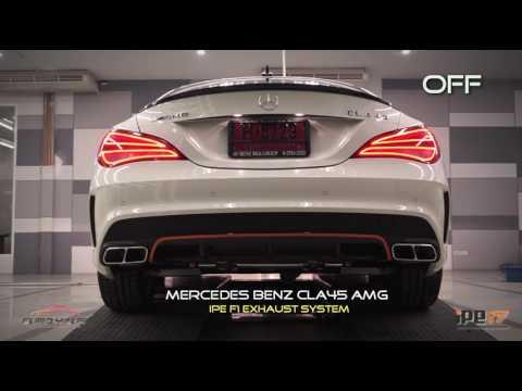 Mercedes Benz CLA45 AMG w/ IPE innotech F1 exhaust system