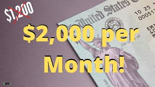 [Breaking] $2,000 Per Month (for a WHOLE year?) Stimulus Package in Congress