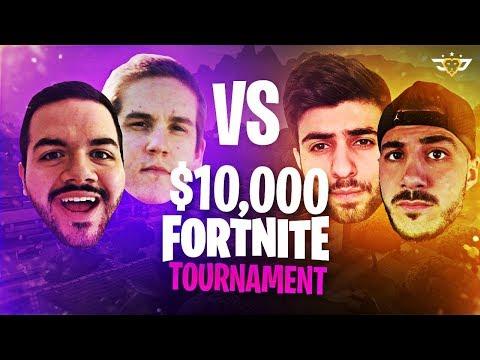 $10,000 Fortnite Tournament! Nickmercs & Sypher vs OpTic CouRage & TeePee