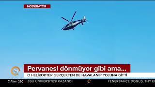 Pervanesi dönmeden uçan helikopter şaşkına çevirdi