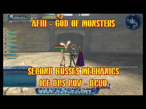 AFIII: God Of Monsters - Second Bosses Mechanics (Gorgon, Phoenix, Minotaur, Harpy) Ice DPS - DCUO