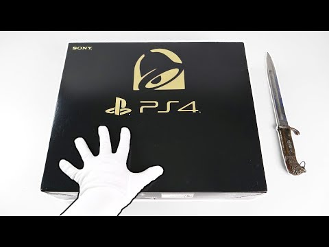 "PS4 ""TACO BELL"" CONSOLE! Unboxing Gold Limited Edition PlayStation 4"