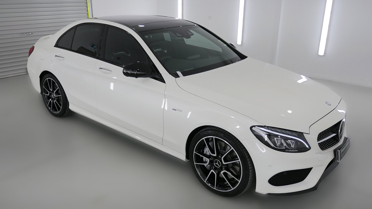 MERCEDES BENZ M AMG C43 Sedan Diamond White Auto M491090