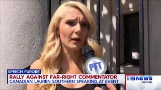 Provocateur Lauren Southern protesters clashed with police