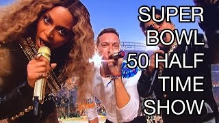 """Beyonce Superbowl """"Formation"""" Half Time Show 2016 ft Bruno Mars, Coldplay: NEARLY FALLS REVIEW"""