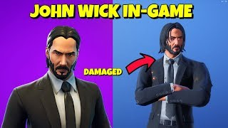 NEW JOHN WICK SKIN + DAMAGED STYLE In-Game Fortnite
