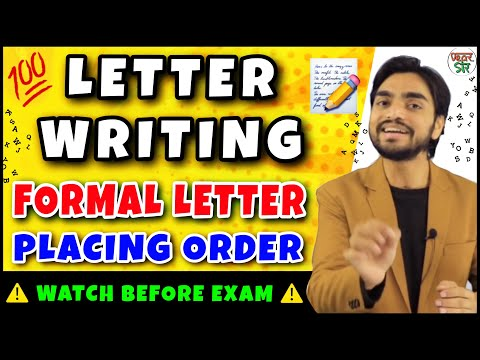Letter Writing in English Trick | Letter on Placing Order | Letter Writing in Hindi/English/Format