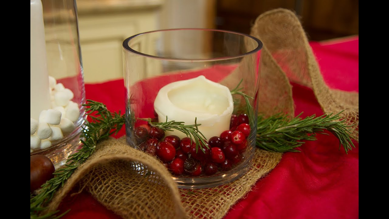 Christmas Candle Centerpiece Ideas Lets Craft With