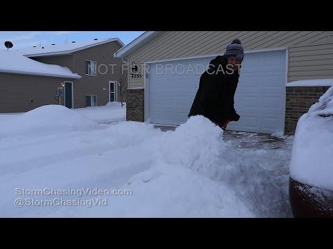 Moorhead, MN Heavy Winter Storm - 1/2/2017