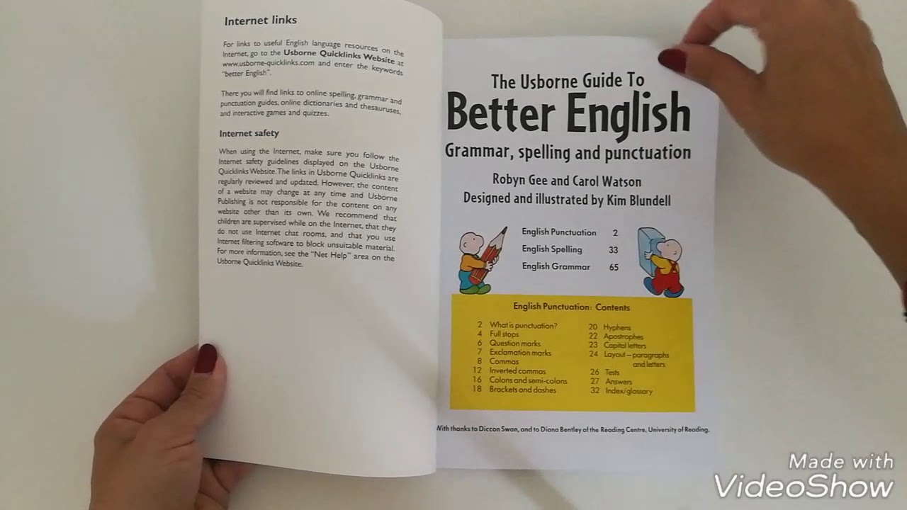 Usborne guide to better english grammar, spelling and.