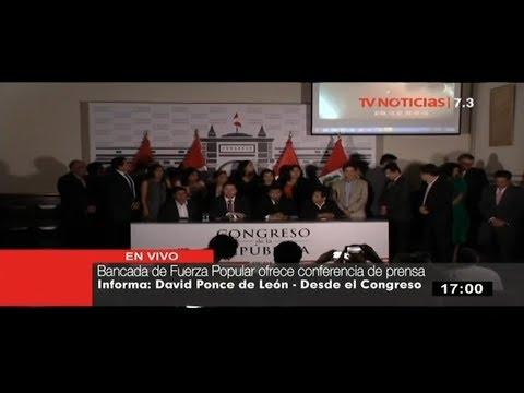 Fuerza Popular presenta videos sobre presunta compra de votos contra la vacancia
