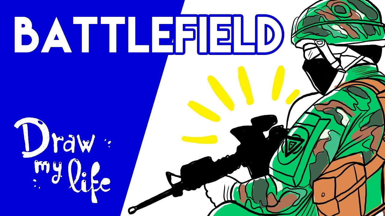 La HISTORIA de BATTLEFIELD - Draw My Life