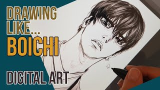 Drawing like BOICHI ✍Digital art process