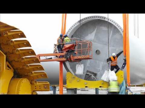 Time lapse - Sweden's highest wind turbine.