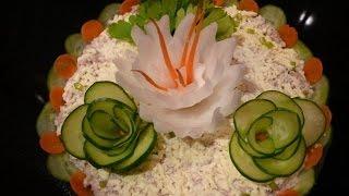 Праздничный стол Как украсить новогодний салат