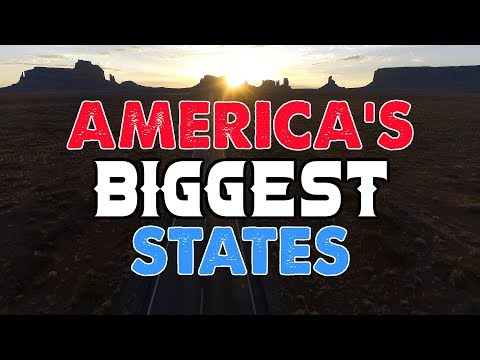 The 10 BIGGEST STATES In AMERICA