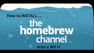How to install the Homebrew Channel on a Wii U and Homebrew Browser-With Blooper