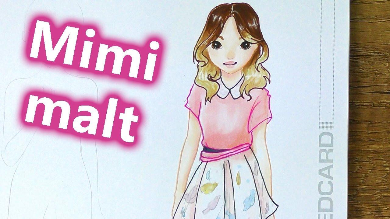 Violetta Malen Lernen Deutsch MIMI MALT Im Topmodel