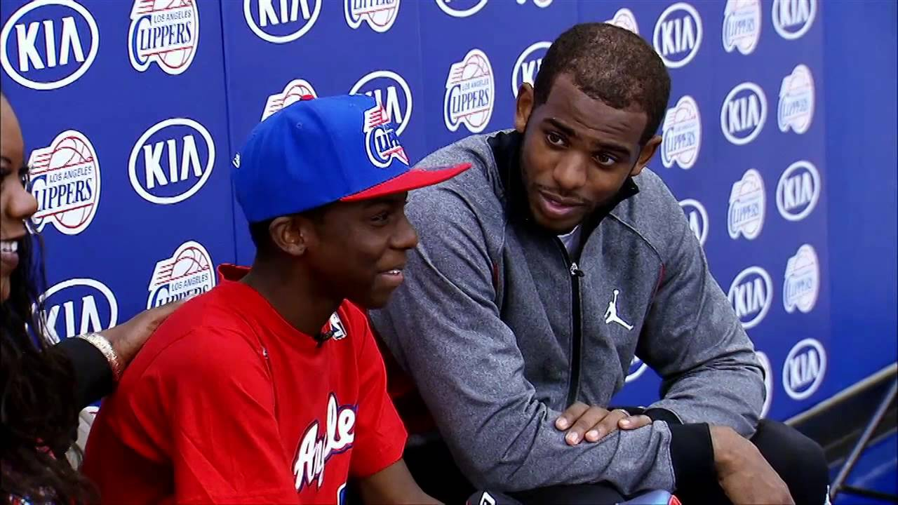 Chris Paul and Blake Griffin  Make a Wish Foundation   YouTube