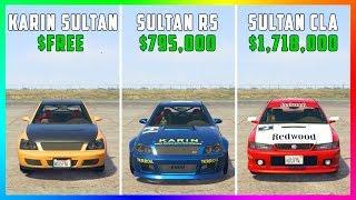 GTA 5 Online - Karin Sultan VS Sultan RS VS Sultan Classic! (FREE VS $795,000 VS $1,718,000)