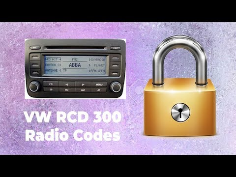 How To Unlock Your VW RCD 300 Radio Online In Minutes