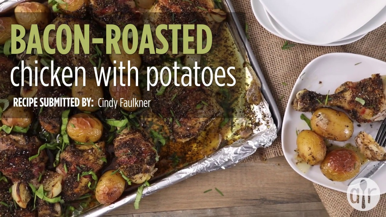 How to make bacon roasted chicken with potatoes dinner recipes how to make bacon roasted chicken with potatoes dinner recipes allrecipes forumfinder Images