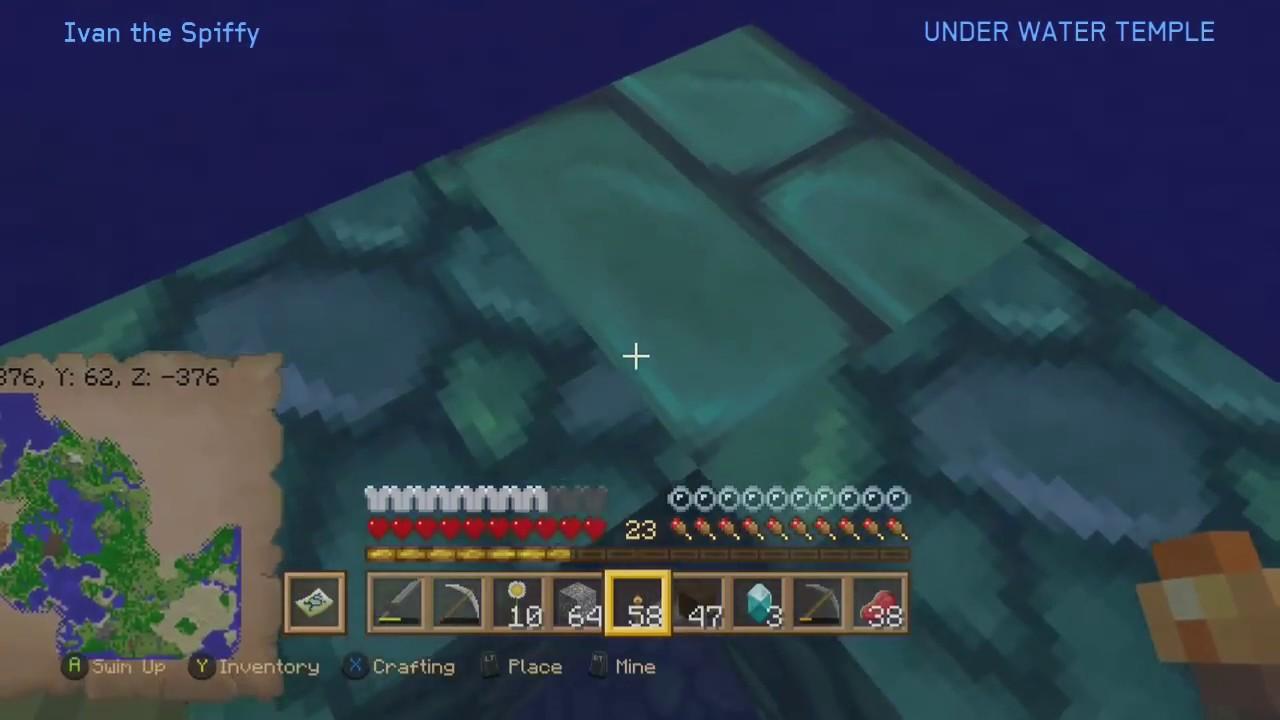how to get in underwater temple minecraft