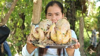 Awesome Cooking Pork Vermicelli In Chicken Recipe  -  Cook Chicken Delicious -  Village Food Factory